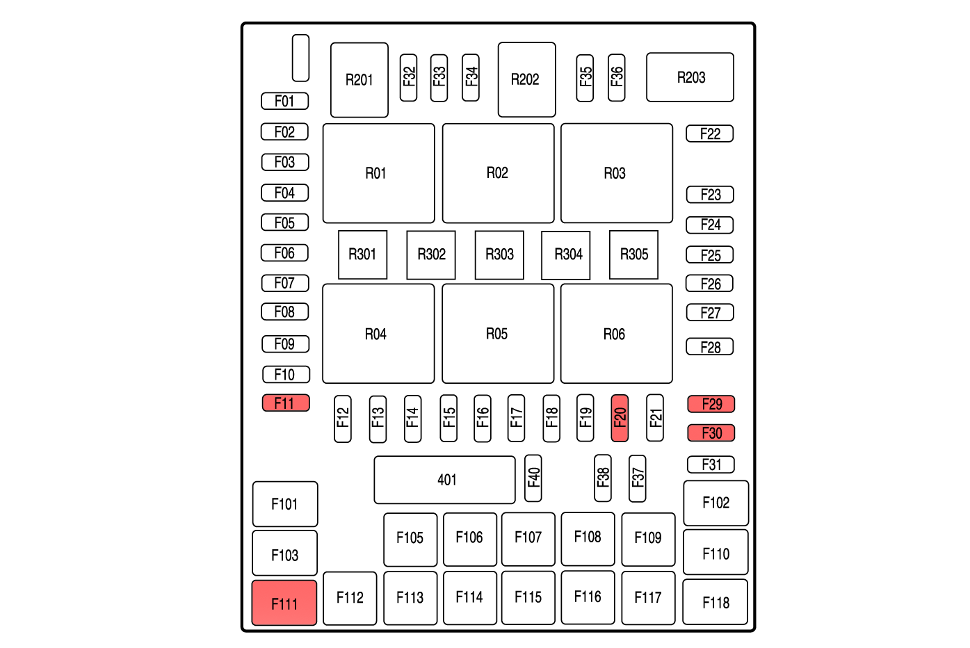 [WRG-8370] 2004 F350 Fuse Relay Diagram