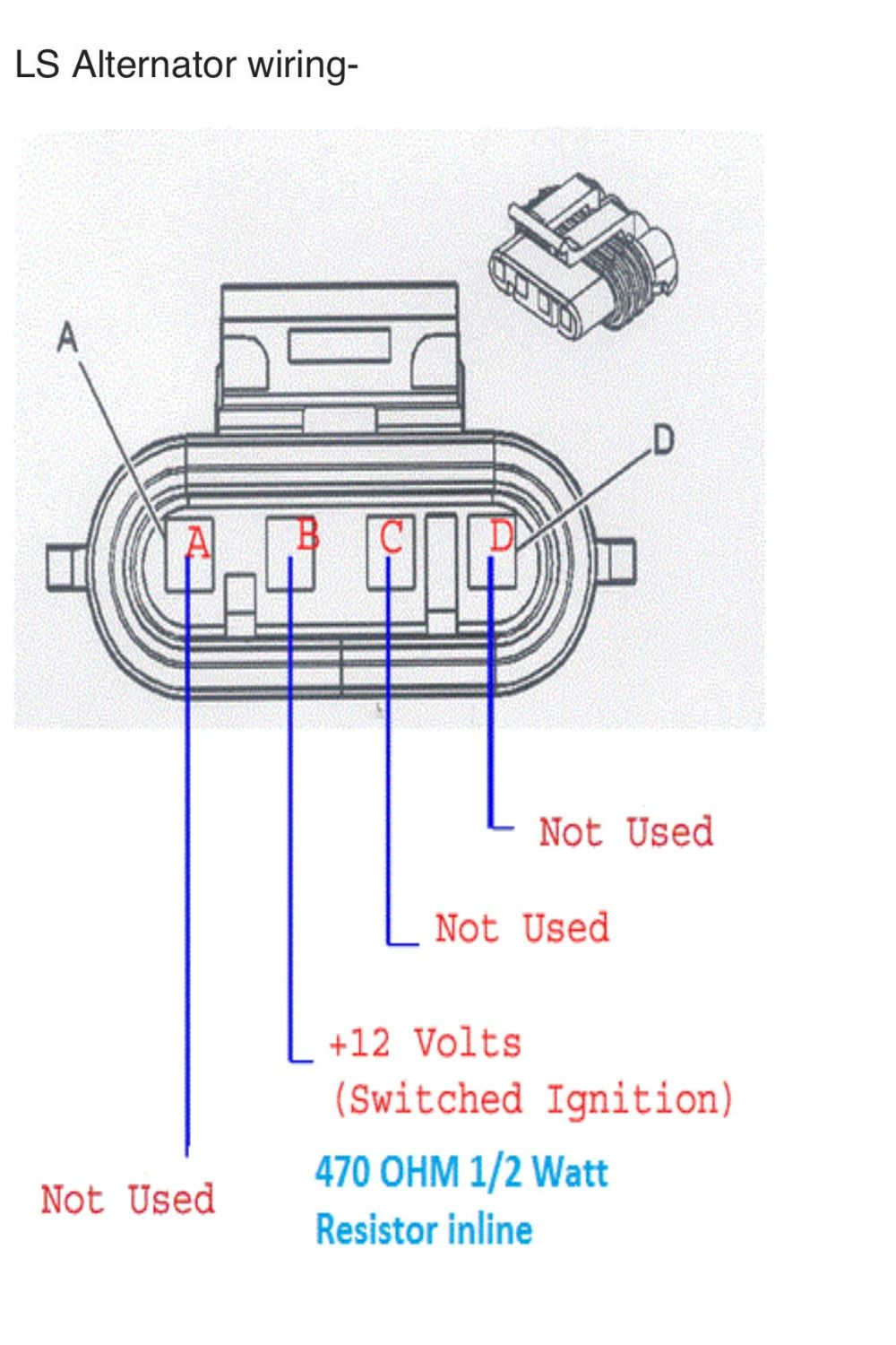 medium resolution of c5 ls1 alternator wiring question ls1tech camaro and alternator charging system diagram wire coil