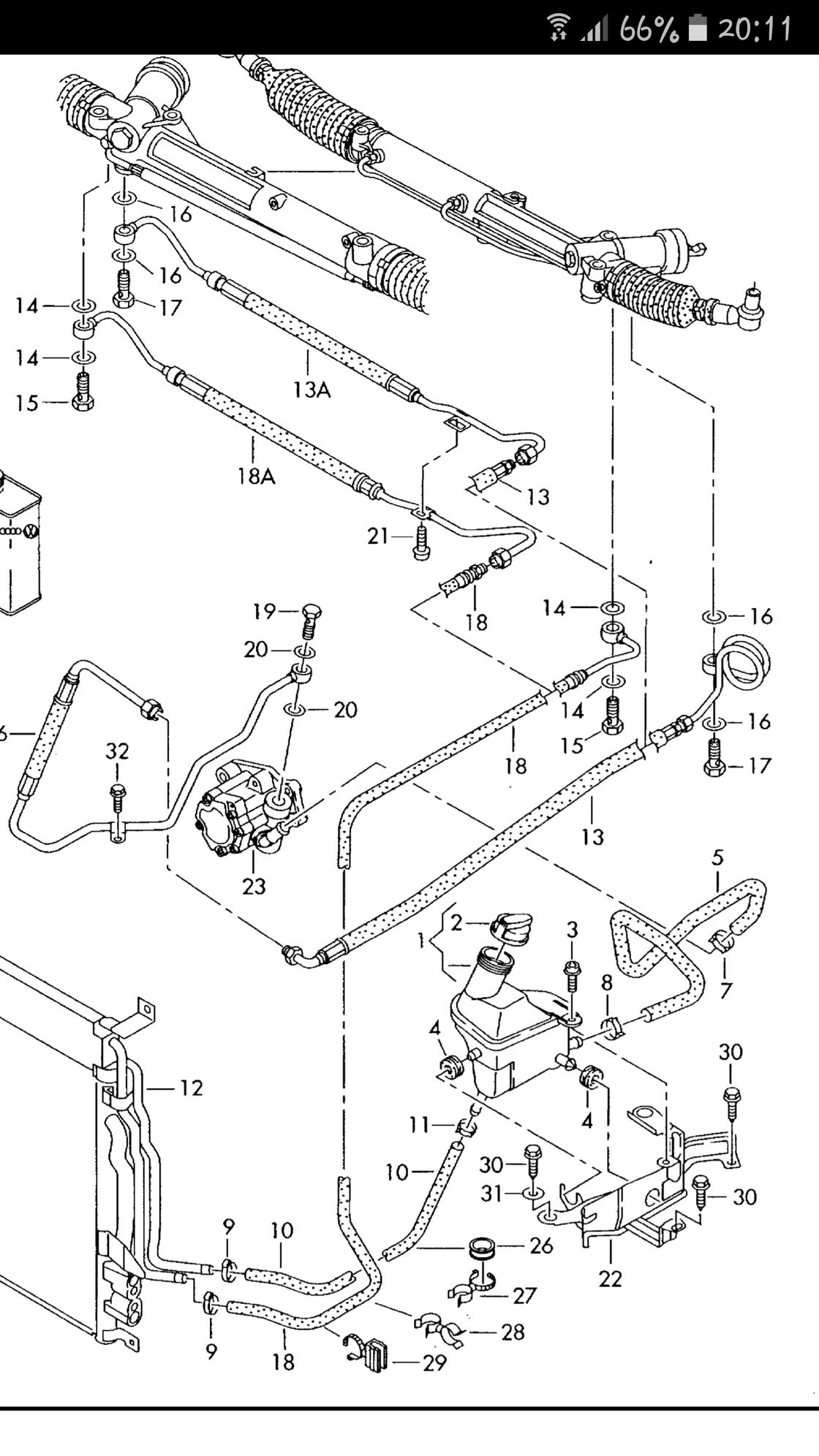 Replacing Power Steering Hose