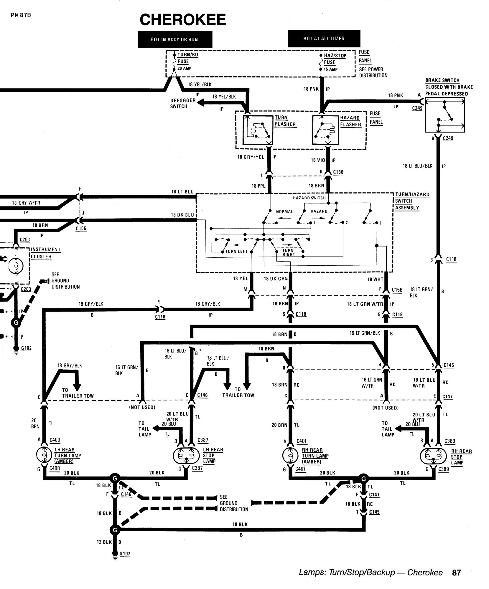87 jeep cherokee engine diagram