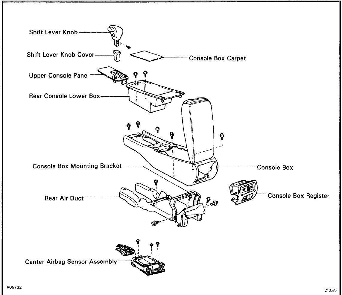 Service manual [Remove The Center Consal For A 2008 Lexus