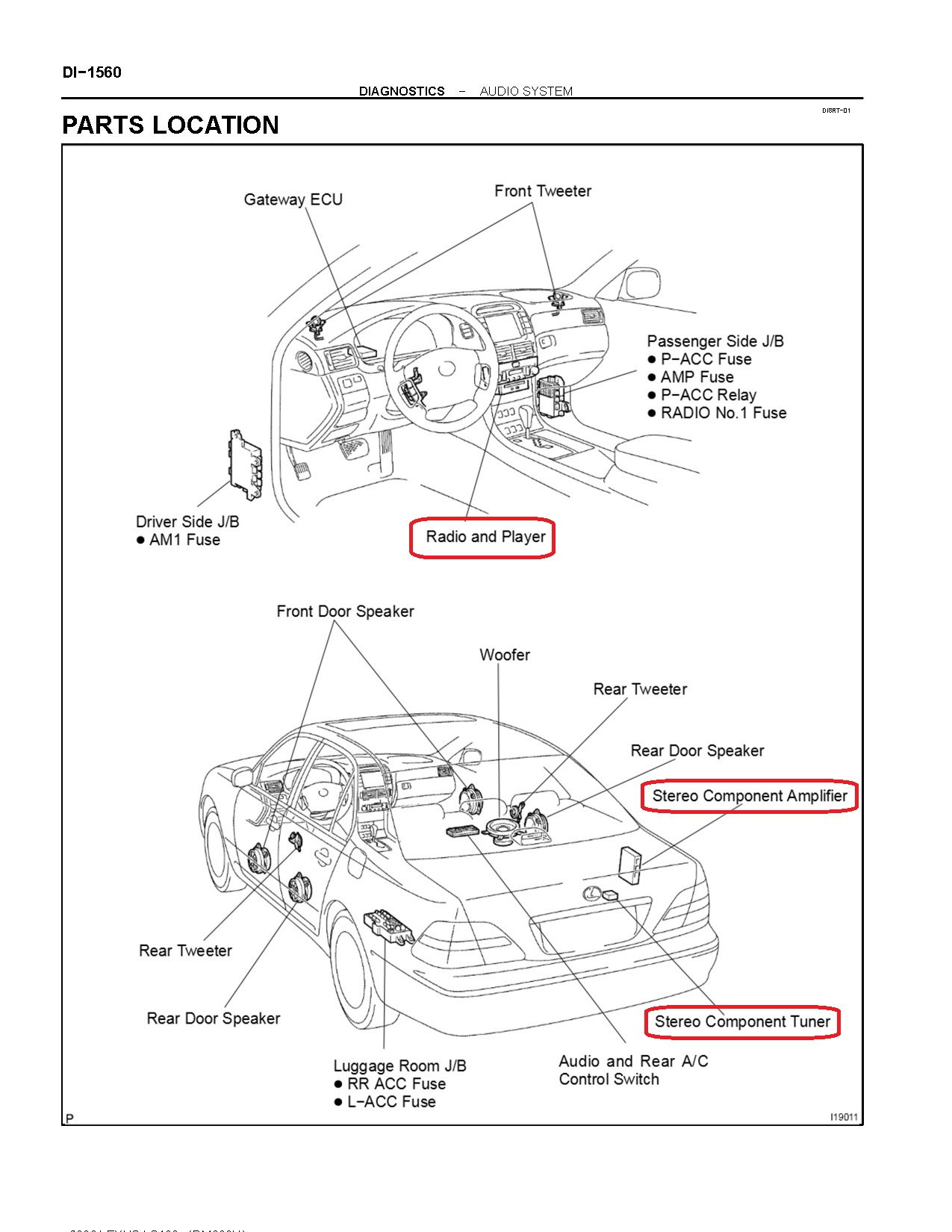 hight resolution of the antenna cable from the rear window is connected to the stereo component tuner but it is not shown on the wiring diagram physical locations of the