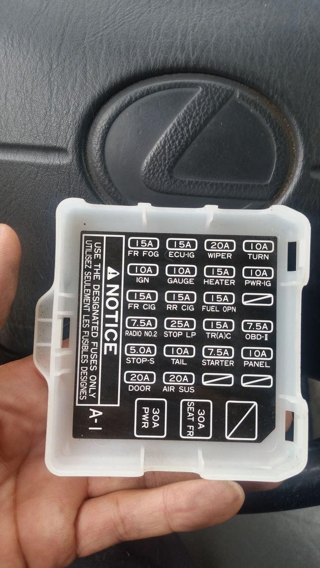 1995 lexus ls400 fuse box  schematic wiring diagram