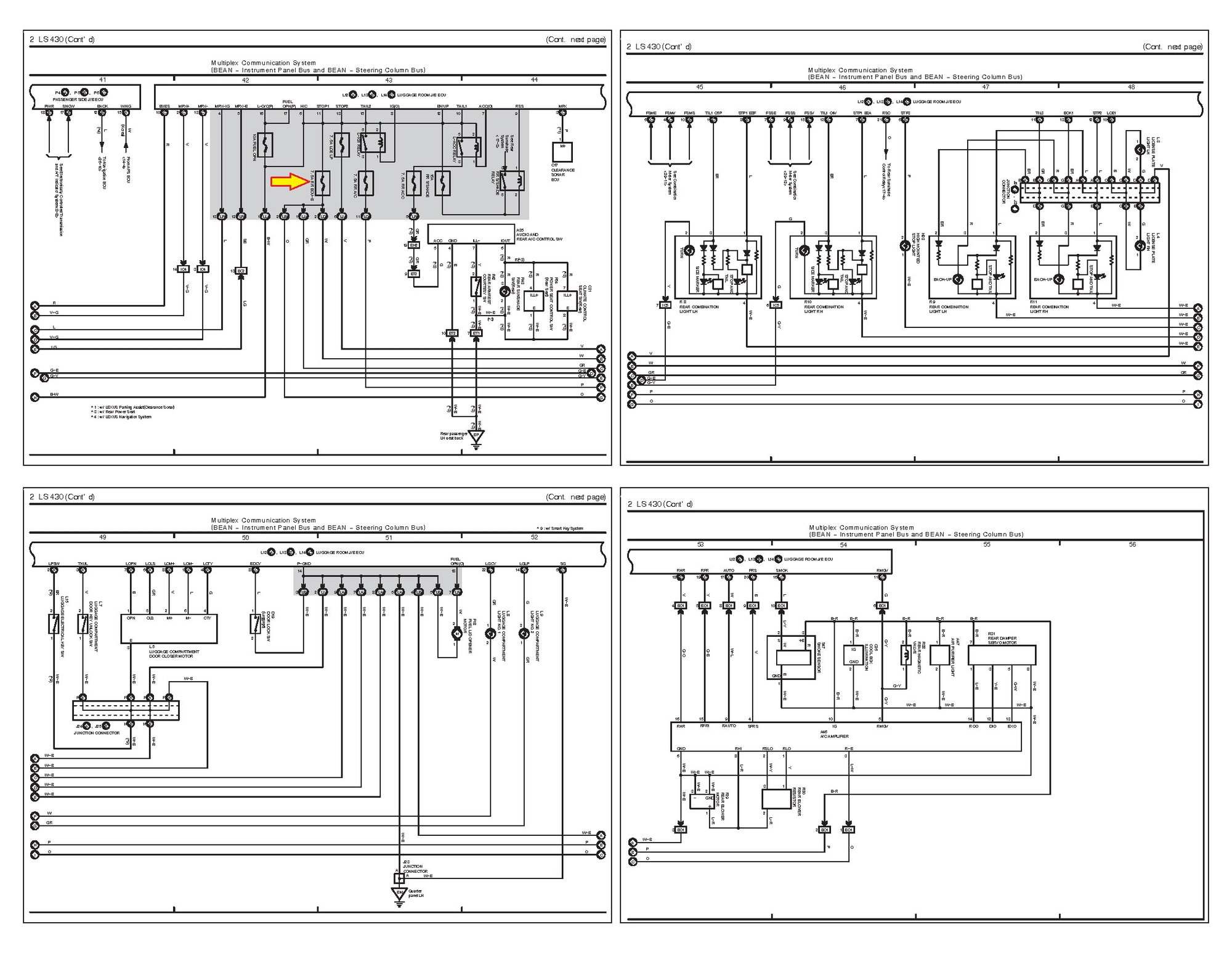 hight resolution of here s the electrical schematic that shows circuitry downstream of 7 5 a rr ecu b i have also attached the pdf if the schematic below is not legible