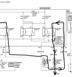 the left side in the schematic is attached to 12v while the right side fan is attached through the relays to the outlet of the left side fan and then to  [ 1427 x 1057 Pixel ]