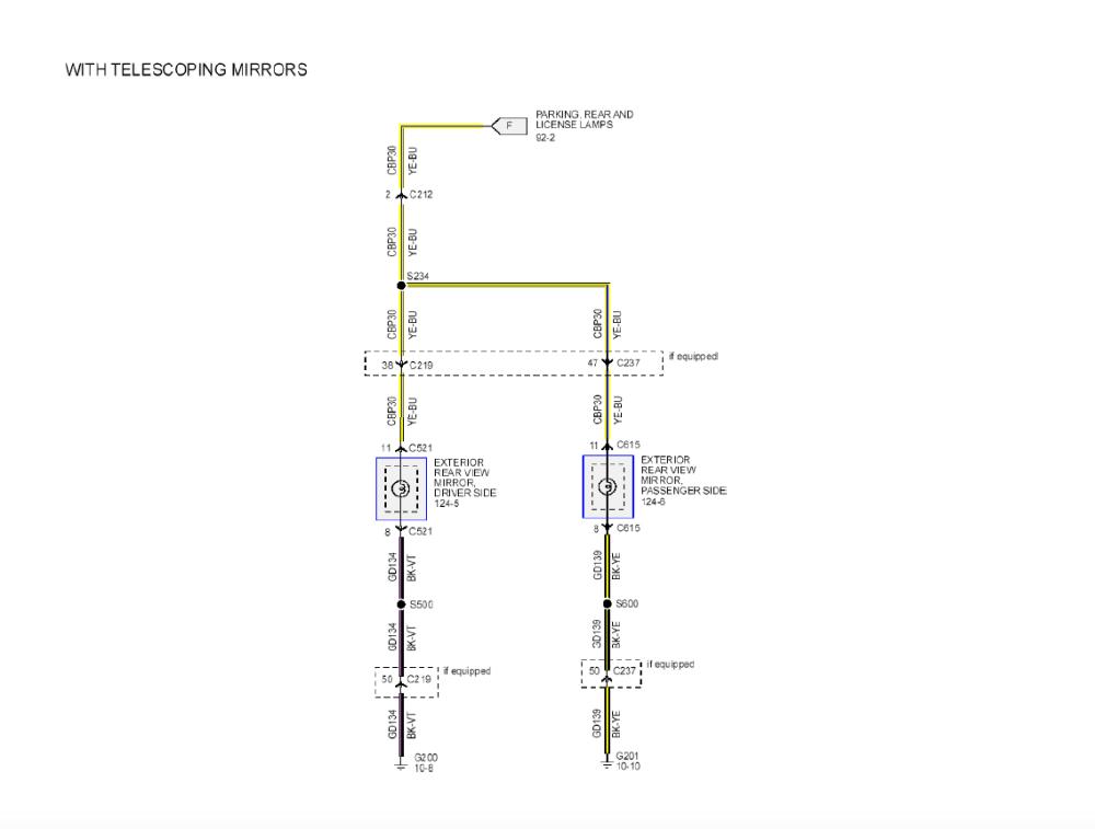 medium resolution of 2013 f150 telescoping mirrors wire harness