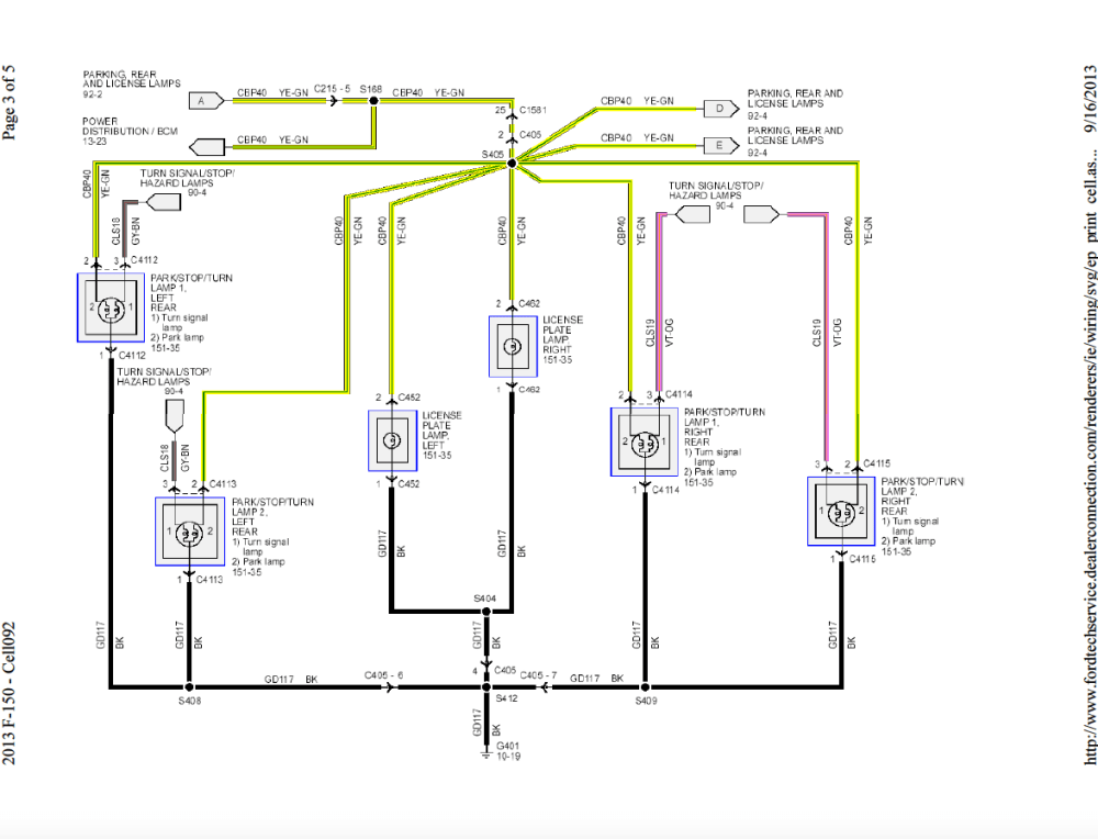 medium resolution of 87 ford f250 tail light wiring diagram