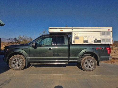small resolution of i have a 2015 scab f150 eco boost lariat i also mounted a four wheel camper this is the brand name of a popular pop up pickup camper to the bed