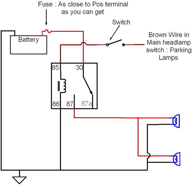fog light relay switch wiring diagram
