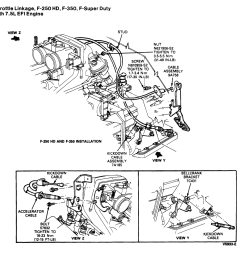 cable from a c6 transmission the aod and other trans are different i include a diagram from the ford service manual showing the linkage for the 7 5  [ 1136 x 1114 Pixel ]