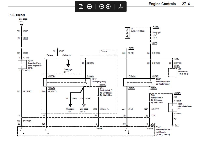 02 7 3 Glow Plug Relay Problem