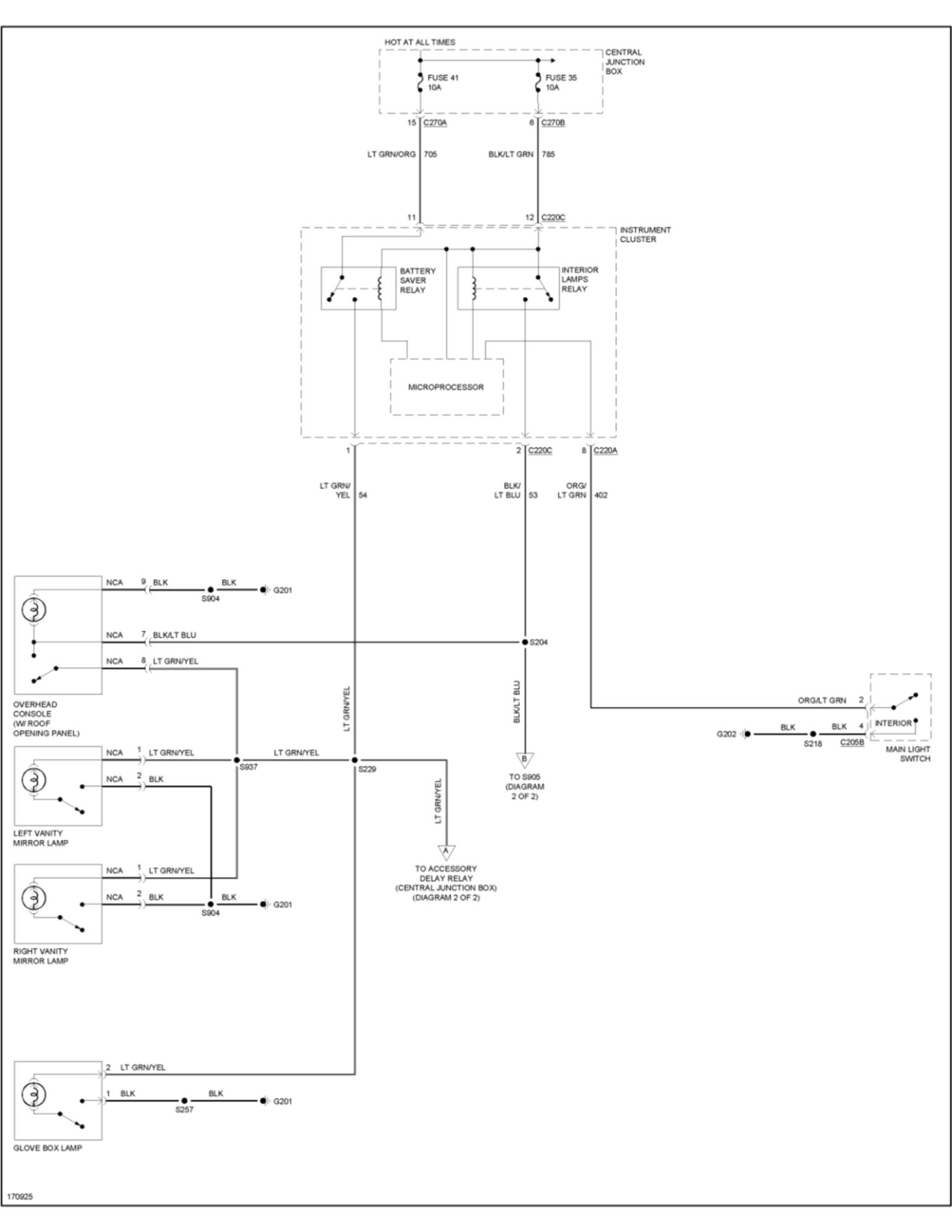 car dome light wiring diagram gretsch 03 f250 ford truck enthusiasts