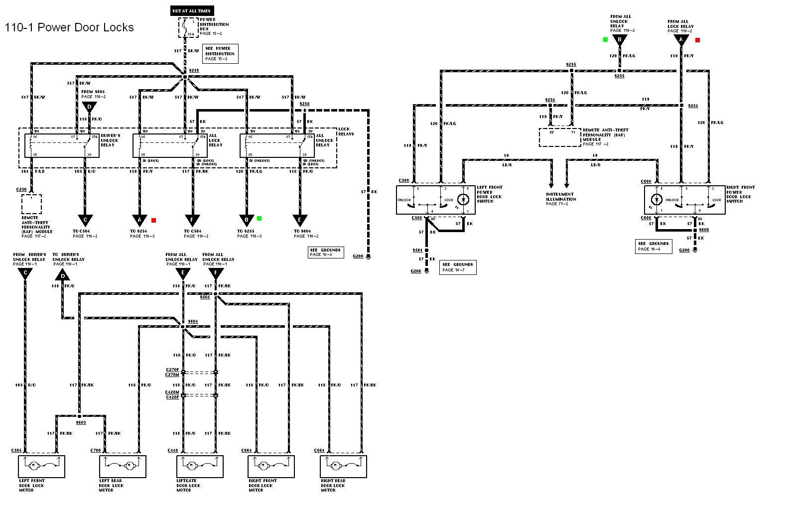 power door lock relay wiring diagram