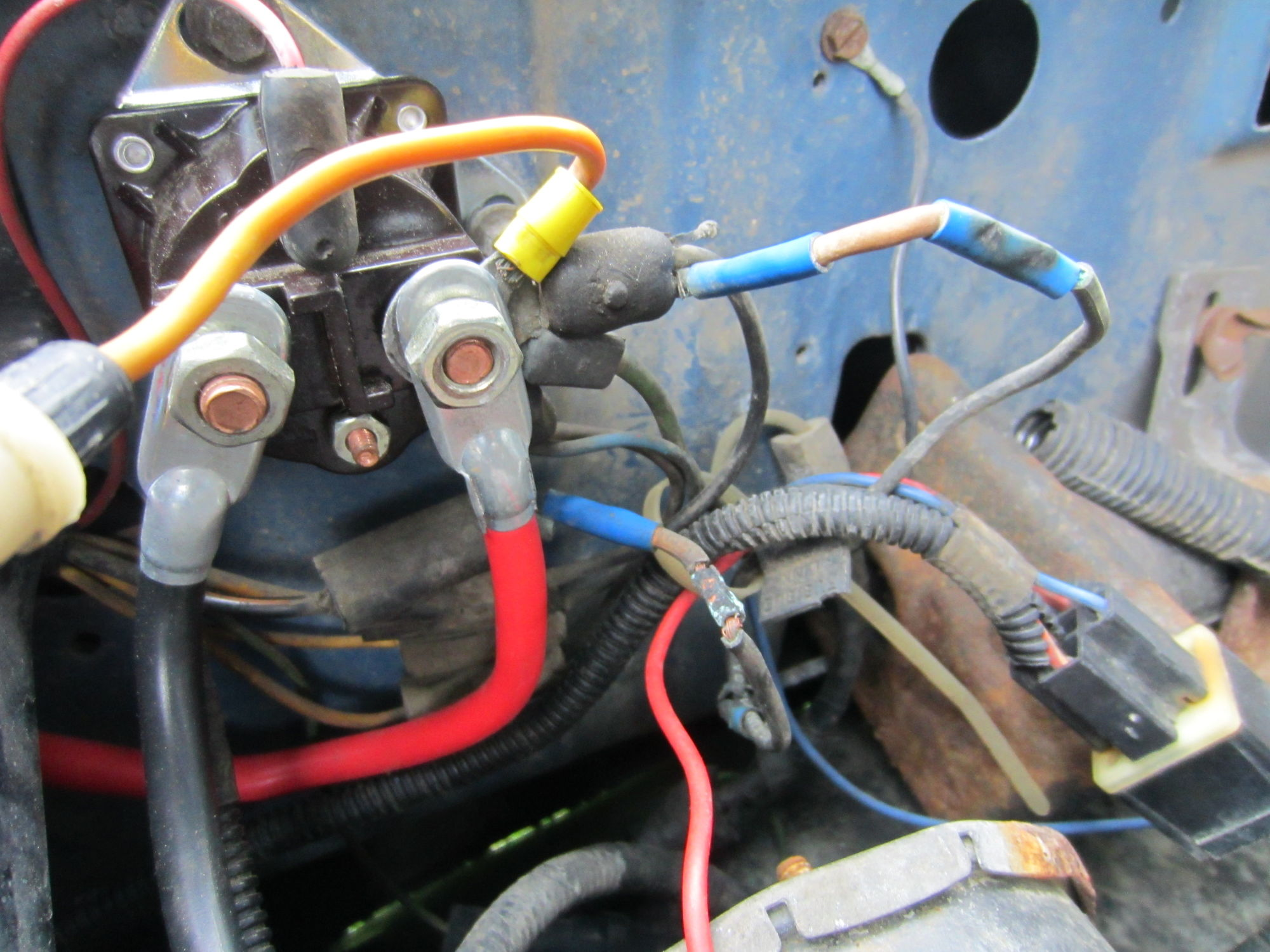 1986 ford f150 starter solenoid wiring diagram baldor capacitor 4 9l not starting truck enthusiasts forums