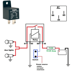 30 Amp Relay Wiring Diagram Gluteus Muscles Pain For A 12v 40 Harley Davidson Forums Here S On How To Wire Aux Lights Using