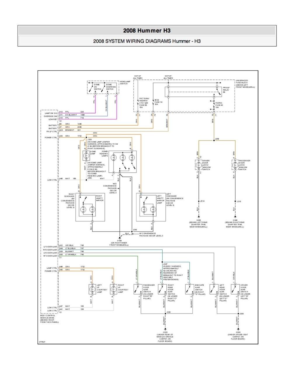 medium resolution of 2008 hummer h3 fuse diagram