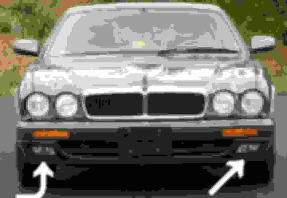 medium resolution of the face lifts have a space in the lower bumper which looks like it was meant for the curved recessed fog lights that were used on the x300 xj6 s see here