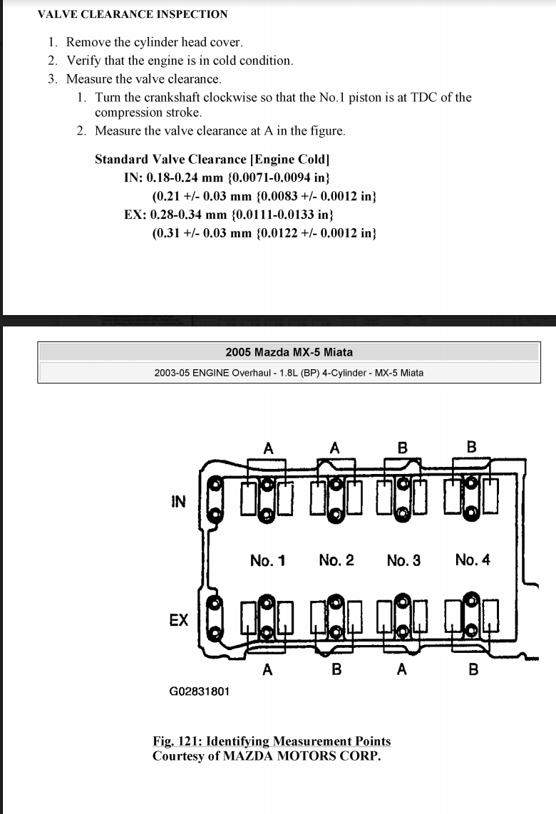 medium resolution of it says what cylinder should be at tdc for each measurement