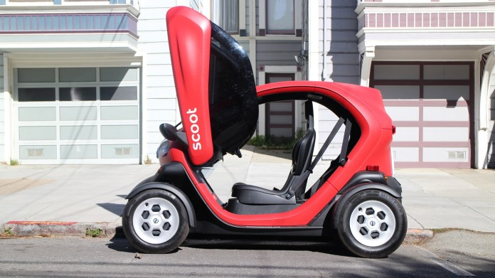 Is An Electric Scoot Quad Nee Renault Twizy Car Sharing S Urban Future