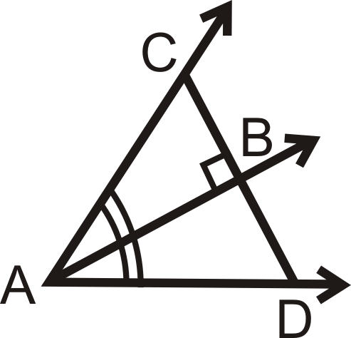 Fill in the blanks in the Angle Bisector Theorem Converse.