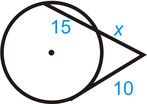 in each diagram below. Simplify any radicals.