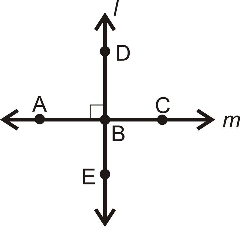 The symbol for perpendicular is