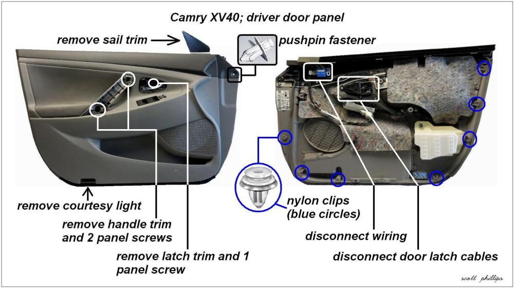 medium resolution of camry driver s side door panel removal