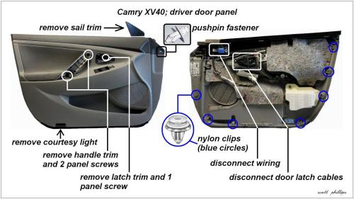 small resolution of camry driver s side door panel removal