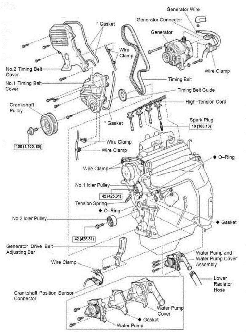 Toyota 5sfe Engine Diagram 1997 Toyota Avalon Engine