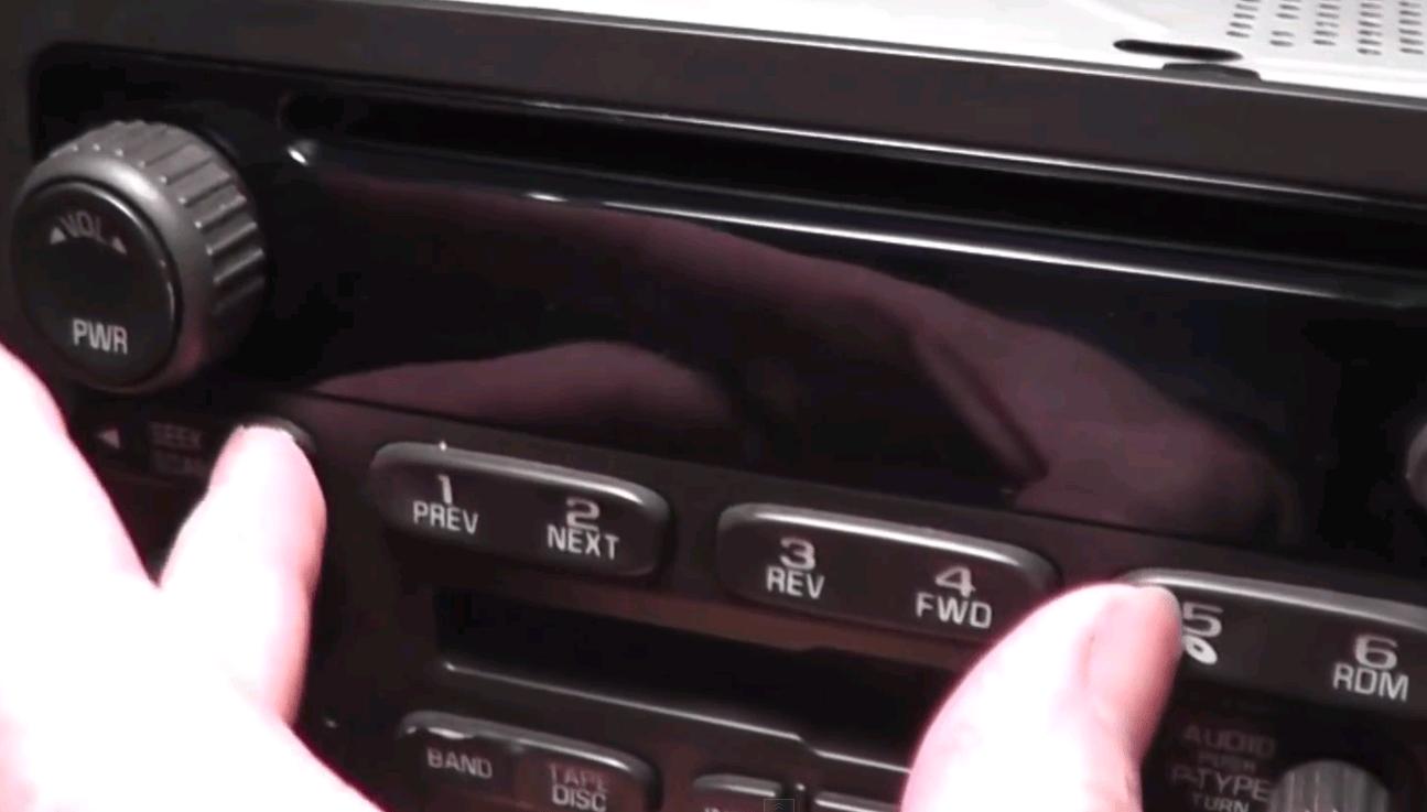 gm radio cal err 2 way lighting switch wiring diagram chevrolet silverado 1500 gmt900 2007 2013 how to unlock figure 1 pressing 5th button and seek