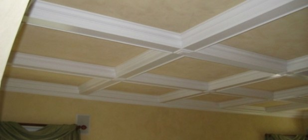Coffered ceiling kits for Foam coffered ceiling