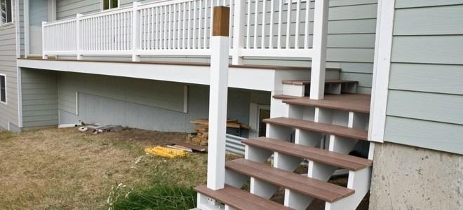 Installing An Aluminum Porch Railing In Concrete Doityourself Com | Wood Railing On Concrete Porch | Surface Mount | Wood Decorative | Vinyl | Front Entry Stair | Bluestone Patio