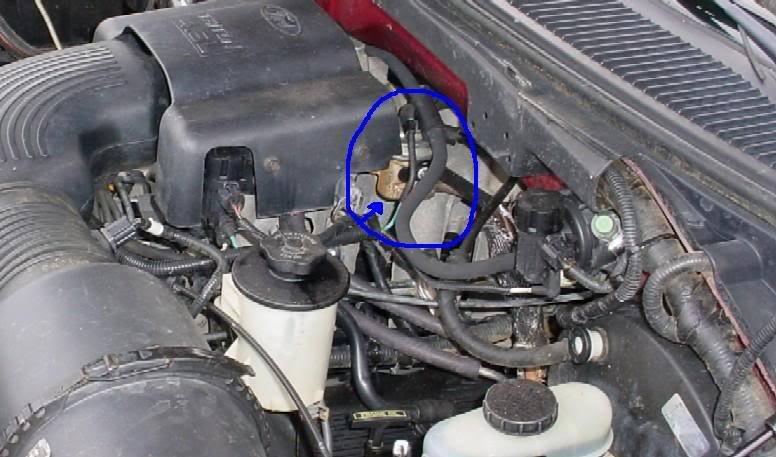 2004 f150 egr valve location