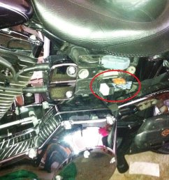 typical fuse box location on a harley davidson dyna [ 1024 x 768 Pixel ]