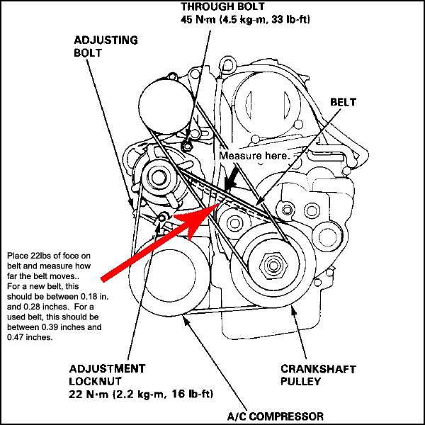 car belt diagrams timing belt diagram for 1989 honda accord