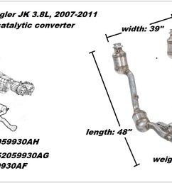 figure 1 3 8l catalytic converter assembly  [ 1601 x 901 Pixel ]