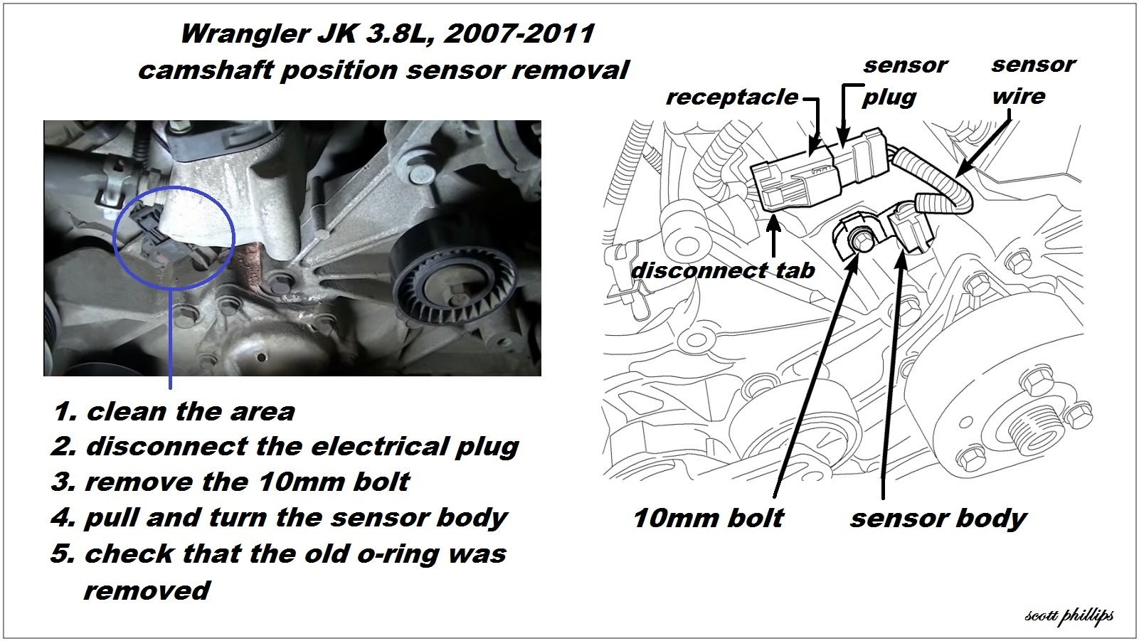 hight resolution of camshaft position sensor removal