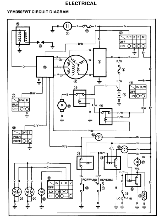 2000 Yamaha Big Bear 400 Wiring Diagram : 39 Wiring