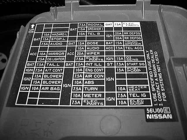 Fuse Box Diagram Together With Nissan Maxima Fuse Box Diagram On Fuse
