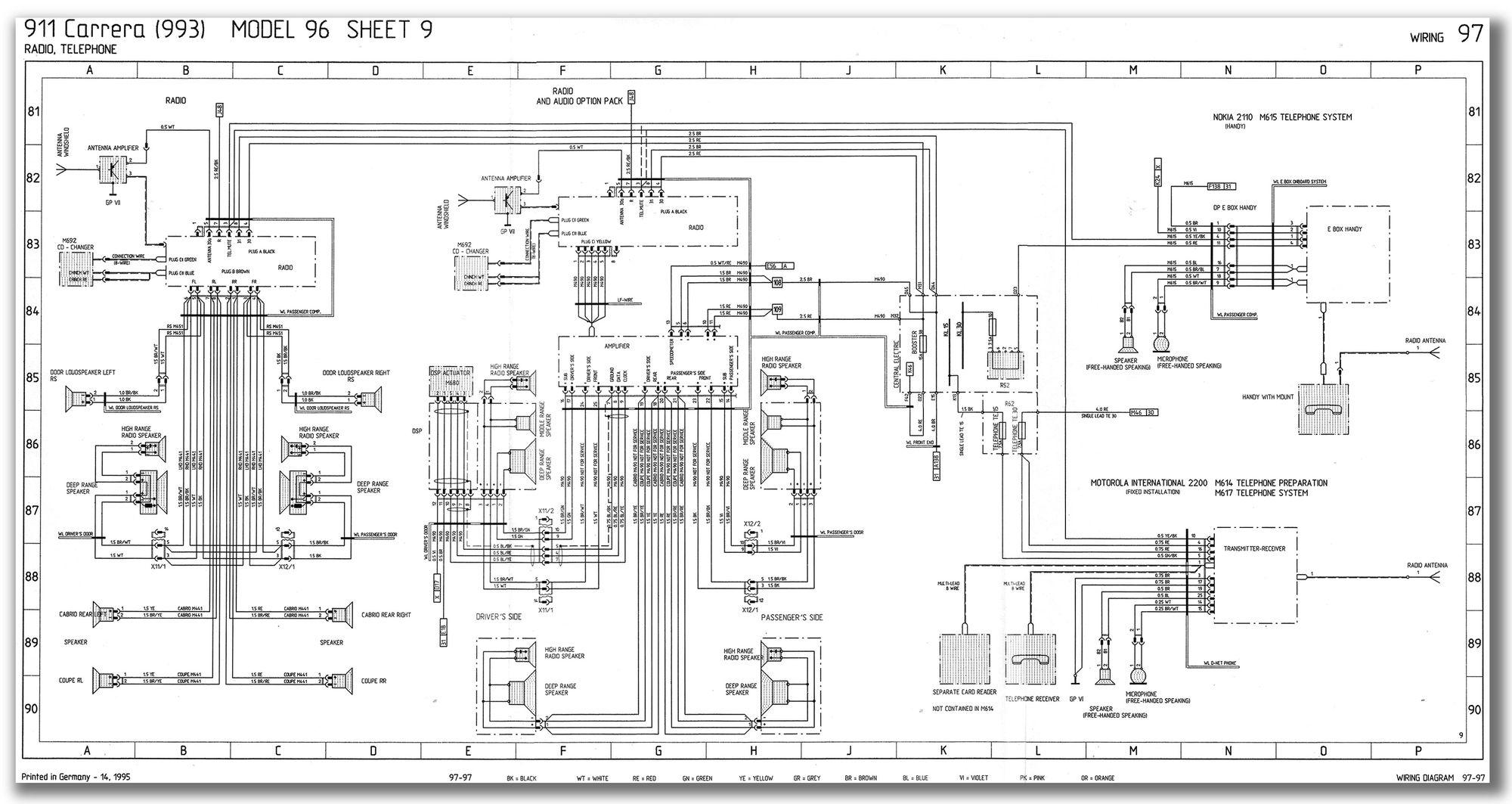 porsche 993 wiring diagram