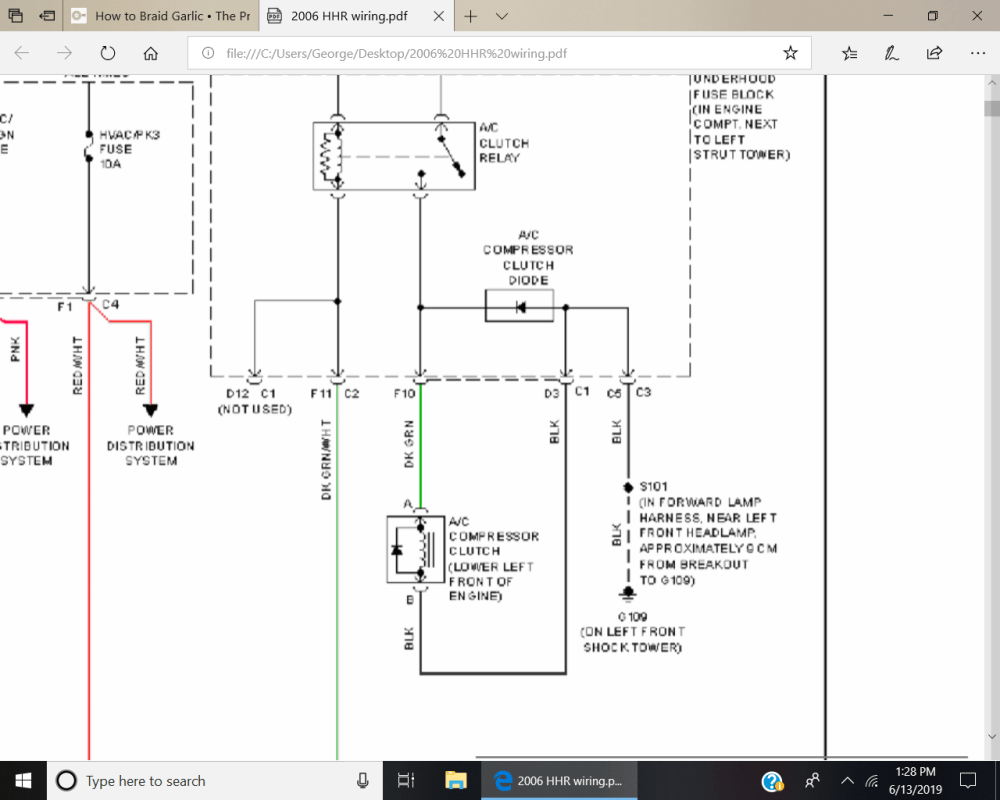 medium resolution of you may want to check the grounding side of the compressor plug would hate to see you buy a compressor or clutch then find out it was just a bad wire