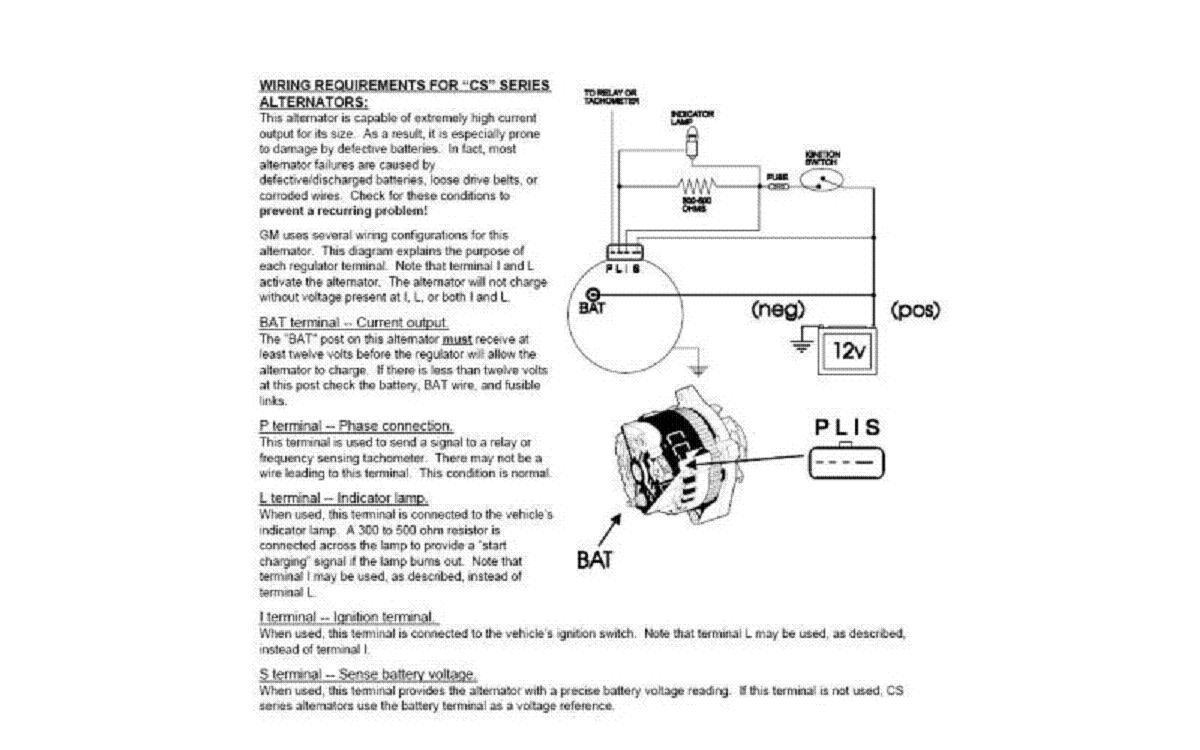 hight resolution of 121 gm 10si 12si 1wire to 3wire alternator wiring kit ebay schema cs alt wiring diagram