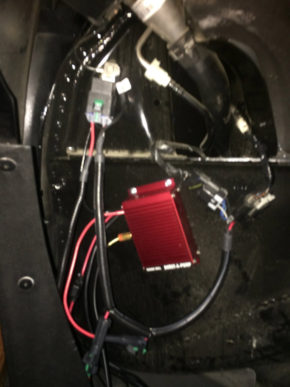 medium resolution of the racetronix harness installed