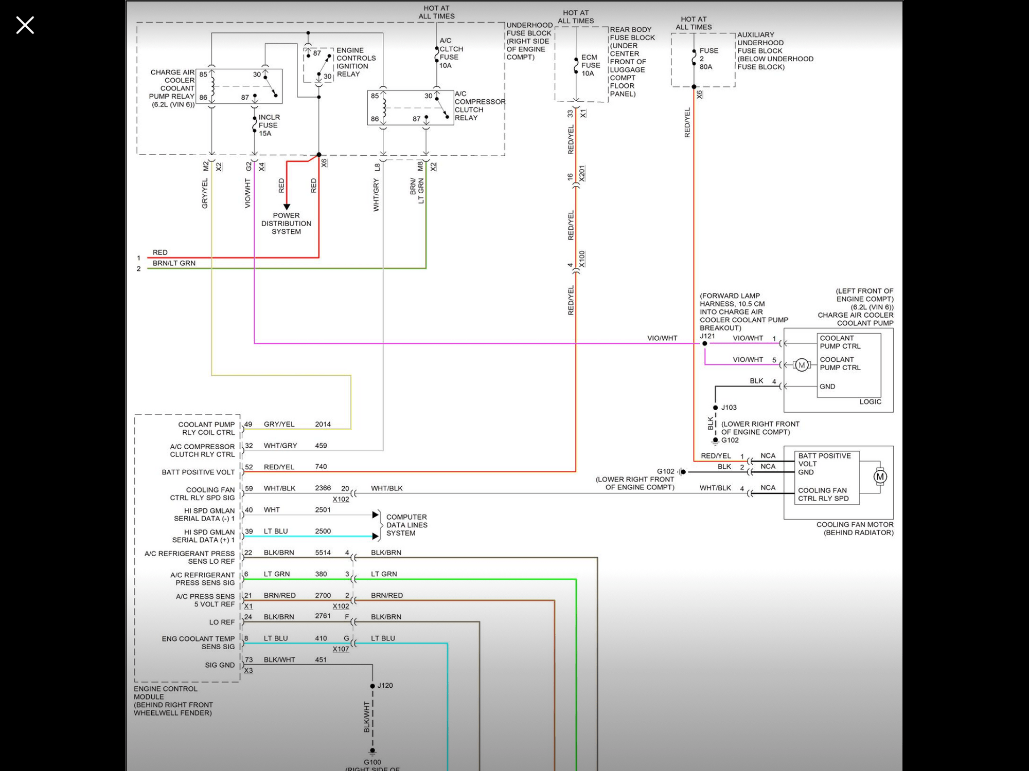 hight resolution of i can t locate the relay for the charge air coolant pump could it be a solid state relay on the printed circuit board in the underhood fuse box