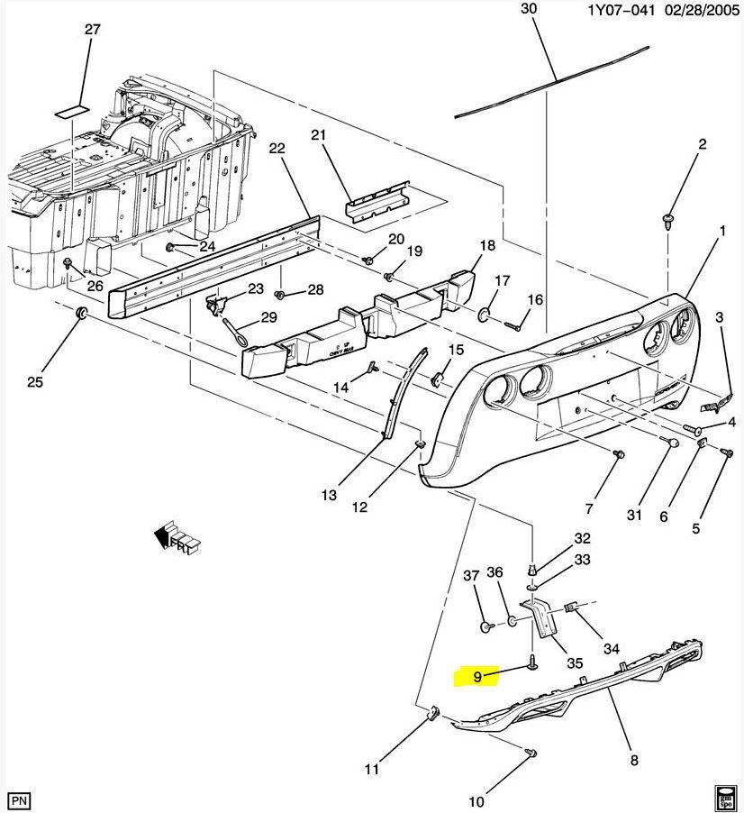 Need help identifying a lower rear bumper bolt