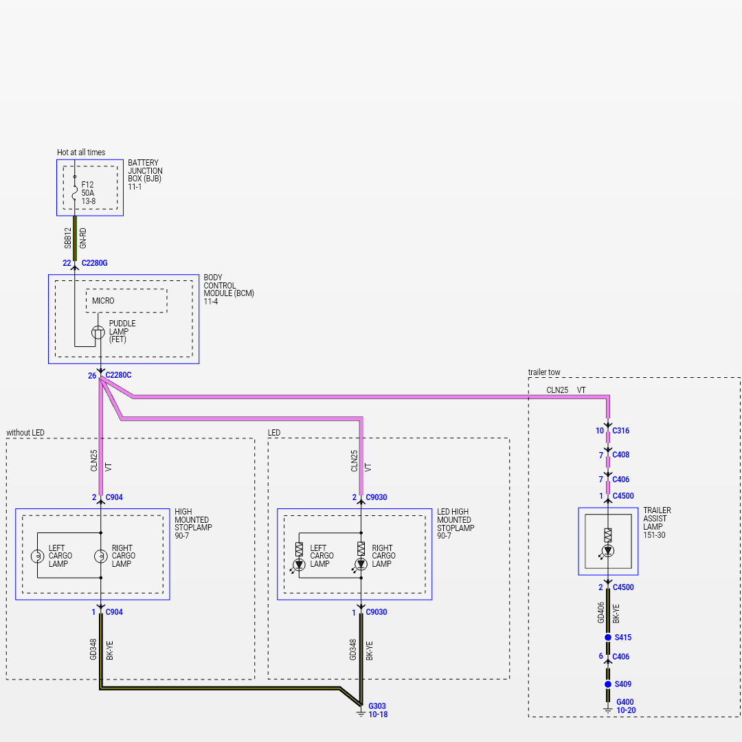 running lights circuit diagram wiring kohler 27 hp up board led 39s need advice