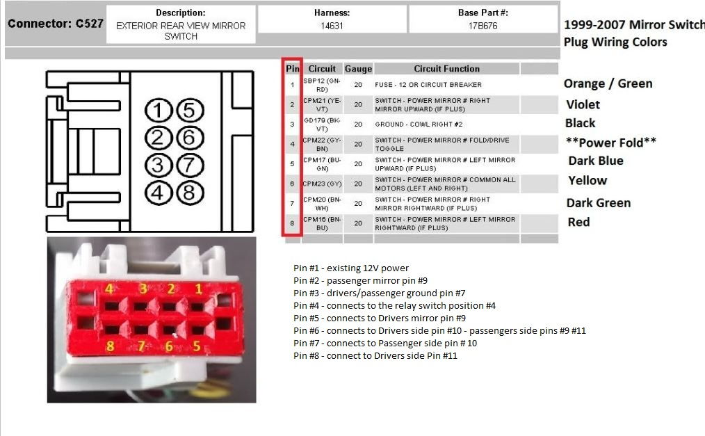 2016 ford f150 rear view mirror wiring diagram craftsman lt2000 solenoid 08+ mirrors up pf/pt using stock parts - truck enthusiasts forums
