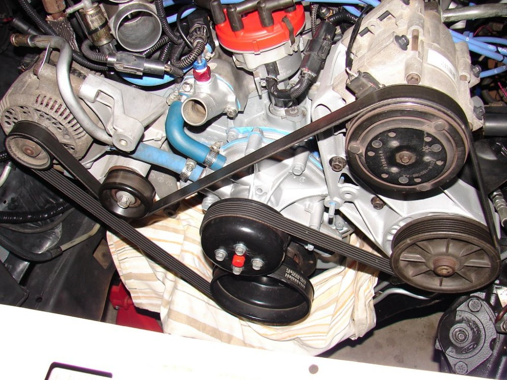 medium resolution of the tensioner wheel is a metal idler for a 5 8 f 250 for some reason the 150 was plastic