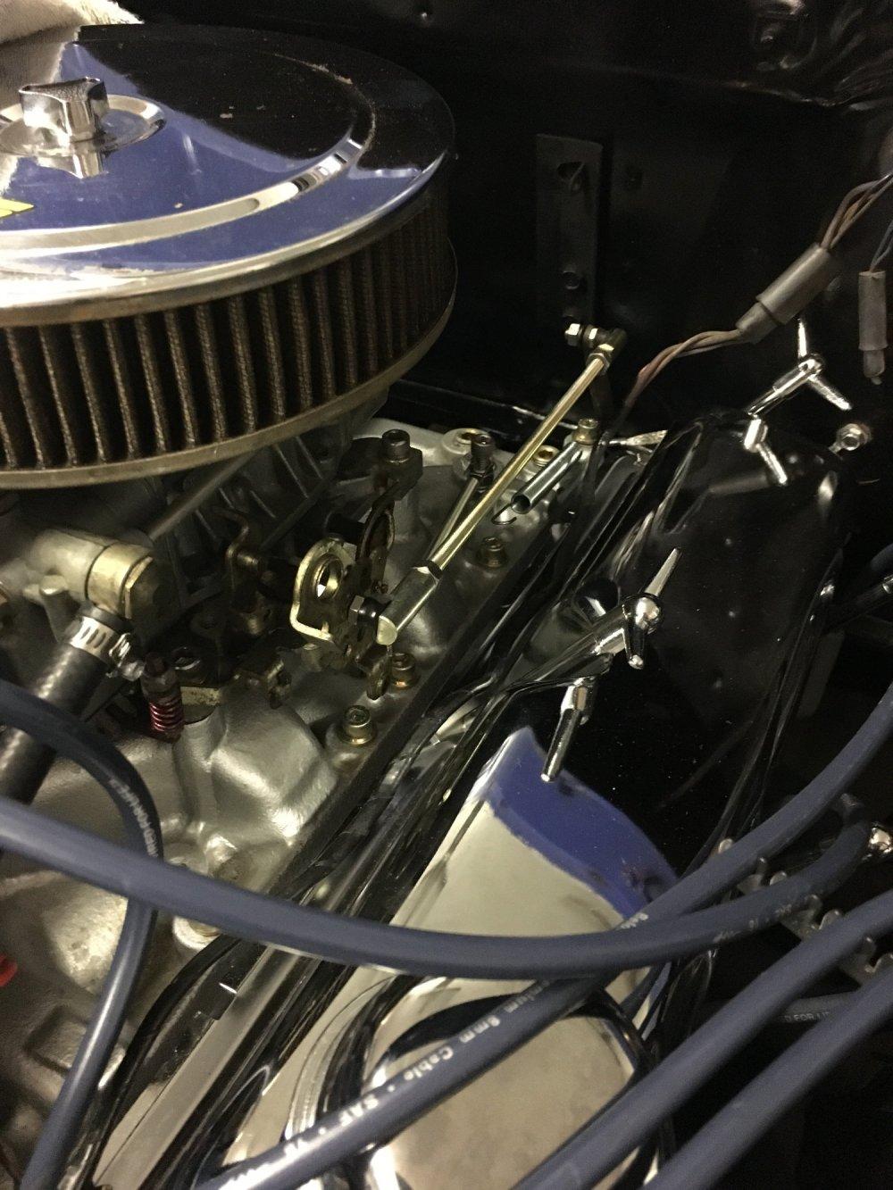medium resolution of new linkage set up with return spring