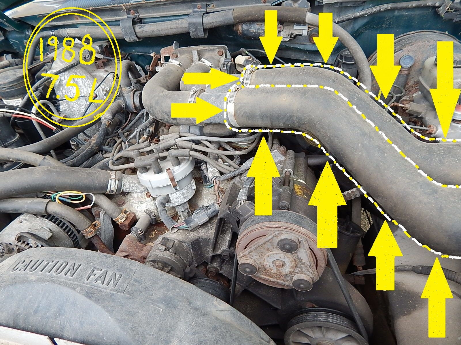 hight resolution of 1992 ford f 350 460 engine fuel injector wiring diagram air intake hose 1988 f250 460 efi ford truck